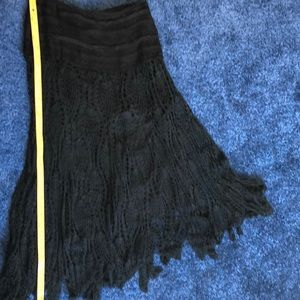 Maxi Skirt, Black Lace w/ Lining